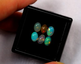 1.53ct 6x4mm 6pcs Ethiopian Welo Polished Opal Lot