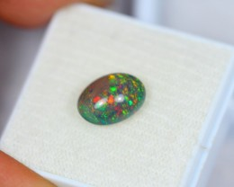1.80Ct Natural Ethiopian Welo Black Smoked Opal Lot K258