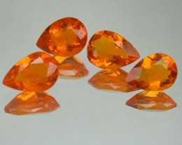 1.97 Cts Natural Mexican Fire Opal Pear Cut 4 Pcs