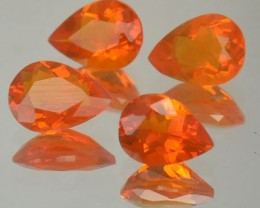 1.88 Cts Natural Mexican Fire Opal Pear Cut 4 Pcs