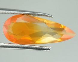 1.96 Cts Natural Mexican Bi - Color Fire Opal Pear Cut