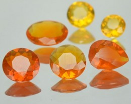 1.61 Cts Natural Mexican Fire Opal  Mixed 6 Pcs Parcel