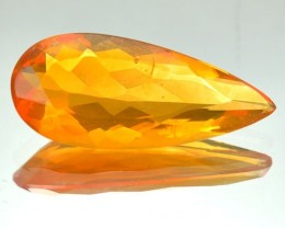 2.40 Cts Natural Mexican Fire Opal Pear Cut