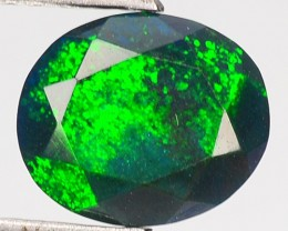 2.13 Cts Smoked Multi Color Play Ethiopian Black Opal Oval
