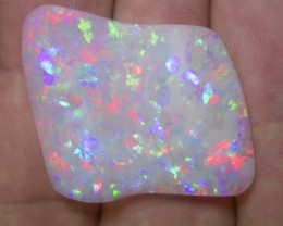 32.1ct EXTR BRIGHT MULTI PATERN  FULLY SATURATED CRYSTAL OPAL