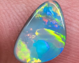 BLACK OPAL LIGHTNING RIDGE NATURAL SOLID 1.29ct GEM BOC040918
