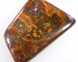 38.60CTS BOULDER MATRIX POLISHED STONE FLASHES OF ELECTRIC COLOUR - S764