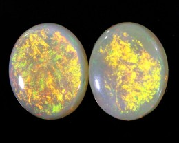 4.53CTS COOBER PEDY OPAL PAIR GREAT COLOUR PLAY  S771