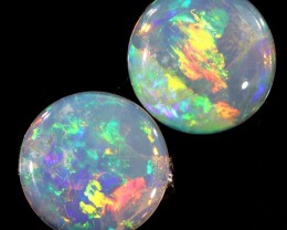 1.50CTS COOBER PEDY OPAL PAIR GREAT COLOUR PLAY  S773