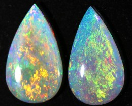 2.23CTS COOBER PEDY OPAL PAIR GREAT COLOUR PLAY  S790