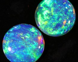 0.95CTS COOBER PEDY OPAL PAIR GREAT COLOUR PLAY  S793