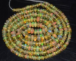 19.65 Ct Natural Ethiopian Welo Opal Beads Play Of Color