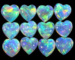 1.81CTS HEART SHAPE 12 STONES PARCEL COOBER PEDY -GREAT COLOR PLAY -S809
