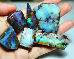 386.25CT VIEW ROUGH QUEENSLAND BOULDER OPAL PARCEL  PJ5