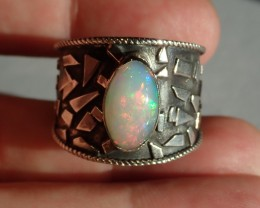 12SZ SOLID WELO  OPAL HIGH QUALITY .925 STERLING FABULOUS RING