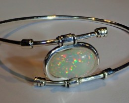 PRISMS SOLID OPAL  HIGH QUALITY CUFF  .925 STERLING