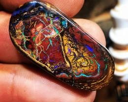 Koroit boulder opal pattern stone