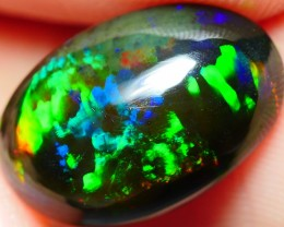 3.15 CRT BEAUTY WAVES COLORFUL PATTERN SMOKED WELO OPAL-