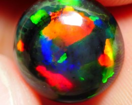 2.55 CRT BRILLIANT ROUND PEACOCK COLOR SMOKED WELO OPAL-