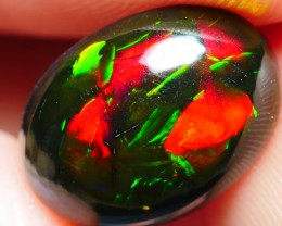 2.80 CRT BEAUTY BAMBOO LEAF PATTERN MULTICOLOR SMOKED WELO OPAL-