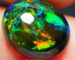 3.80 CRT BEAUTY 3D BLUE FIRE MULTICOLOR SMOKED WELO OPAL-