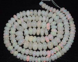 46.90 Ct Natural Ethiopian Welo Opal Beads Play Of Color