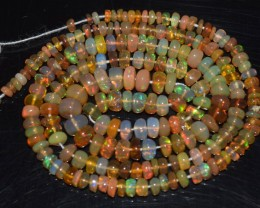 35.55 Ct Natural Ethiopian Welo Opal Beads Play Of Color