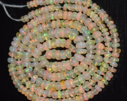 23.45 Ct Natural Ethiopian Welo Opal Beads Play Of Color