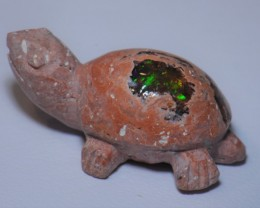 14ct Mexican  Opal in Matrix Cross Unique 1 of a Kind Turtle