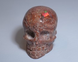 26.5ct Mexican  Opal in Matrix Skull Great October Gift