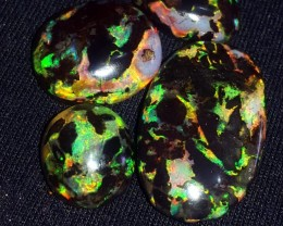 46.00 CRT GORGEOUS 4 PCS POLISHED INDONESIAN OPAL WOOD FOSSIL