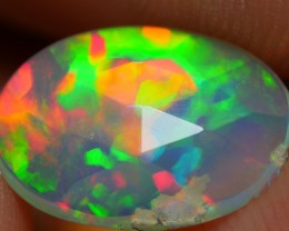 1.00 CRT DELUXE NEON BRIGHT FLAT FACETED PUZZLE FIRE WELO OPAL-