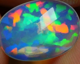 1.20 CRT BEAUTIFUL CRYSTAL FACETED PRISM MULTICOLOR WELO OPAL-