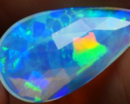 2.50 CRT DELUXE SPIDER WEB BLUE CRSYTAL CLEAR FLAT FACETED WELO OPAL-