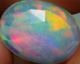 3.60 CRT FLAT FACETED BROADFLASH FIRE PLAY COLOR WELO OPAL-