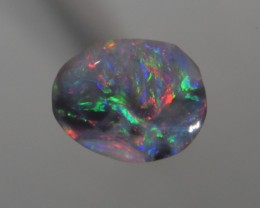 Solid Chinese Writing Crystal Black Opal ( 1.50 CT ) from Lightning Ridge