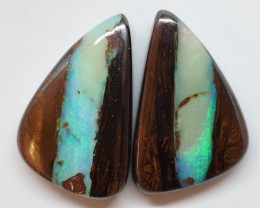 51.15CT VIEW KOROIT BOULDER OPAL ZI1 (pair)