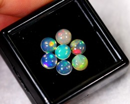 2.10cts 5mm Calibrate Ethiopian Welo Round Opal Lot