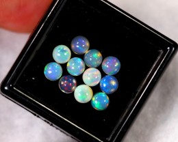1.99cts 4.2mm Calibrate Ethiopian Welo Round Opal Lot
