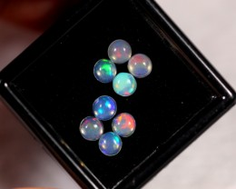 1.36cts 4mm Round Calibrate Ethiopian Welo Opal Lot