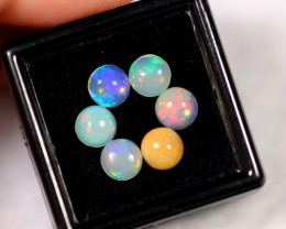 3.03cts 5.9mm Round Calibrate Ethiopian Welo Opal Lot