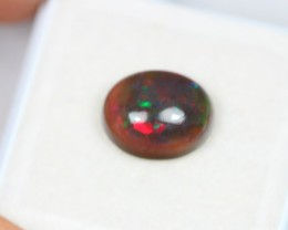 2.38Ct Natural Ethiopian Welo Smoked Black Opal Lot JA34