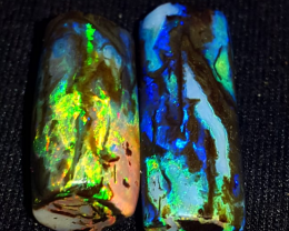 3.20 CR AMAZING MULTY COLOR FIRE COLOR WOOD FOSSIL INDONESIAN OPAL