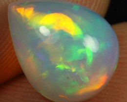 Free Shipping  3.10cts  5/5 Broad Multi Fire Ethiopian Opal