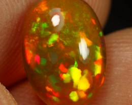 2.00cts Fire Floral Pattern Ethiopian Opal