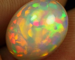 AAA 3.35cts Floral Patchwork Pattern Ethiopian Opal