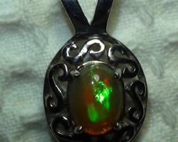15.70 ct Stunning Modern 925 Silver Solid Welo Opal Pendant