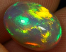 AAA 3.80cts Brilliant Multi Flash Fire Ethiopian Opal