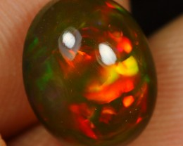 3.45cts Dark Brown Based Multi Fire Ethiopian Opal