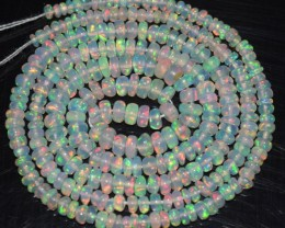 18.85 Ct Natural Ethiopian Welo Opal Beads Play Of Color